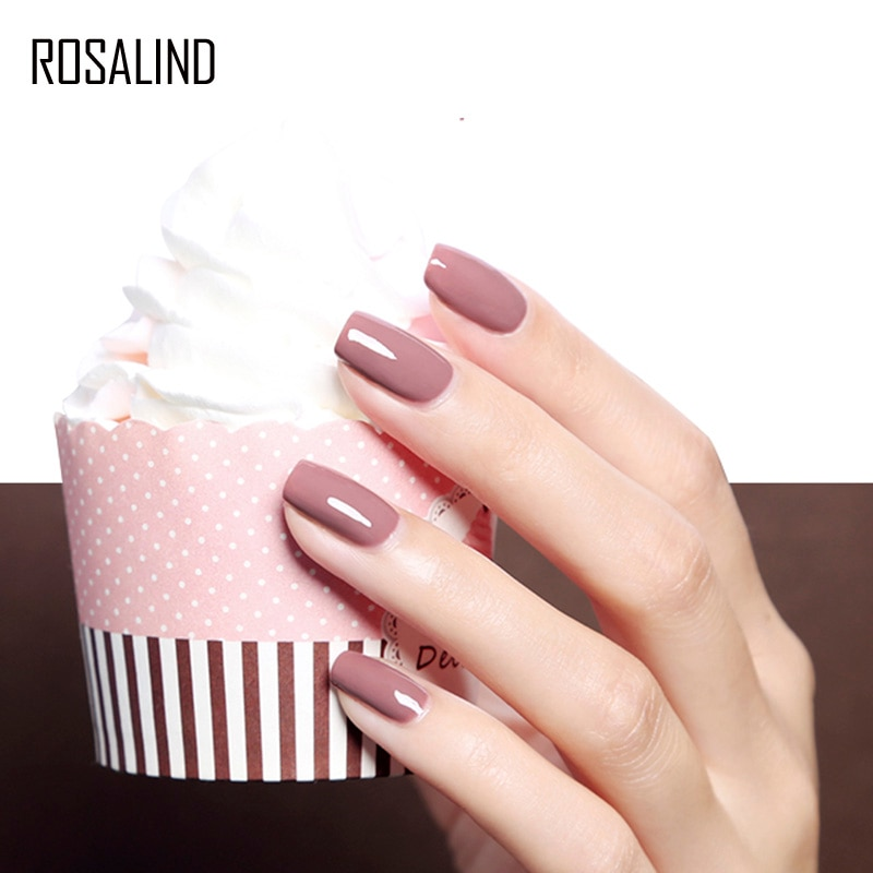 ROSALIND 8ML Gel Nail Polish Hybrid Varnishes Nail Art Semi Permanent Pure Color Need Base And Top Nails Design All For Manicure