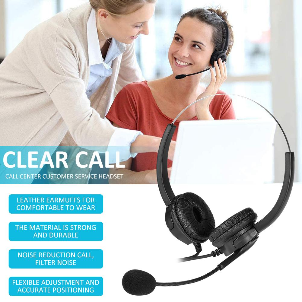 Auriculares estéreo con cable VH530D, auriculares HD con reducción de ruido para servicio al cliente, cómodos auriculares USB para ordenador de sobremesa y ordenador portátil