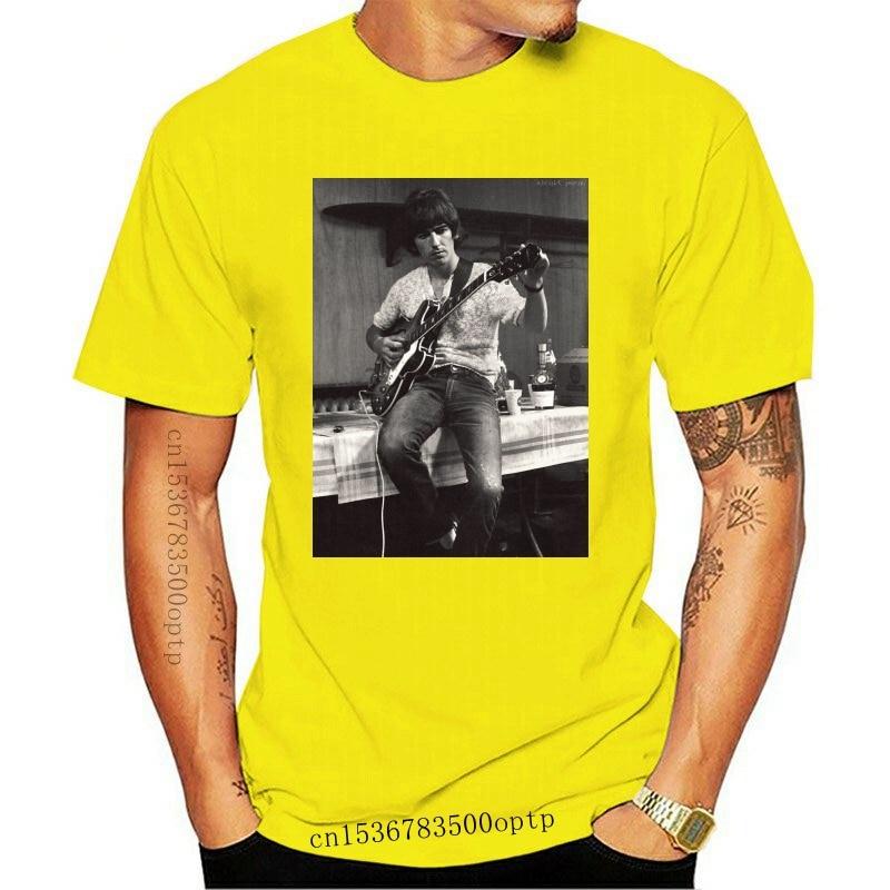 New Men t shirt George Harrison Rare Image Hot Sale Tees Crew Neck Black Tops to 3XL t-shirt women