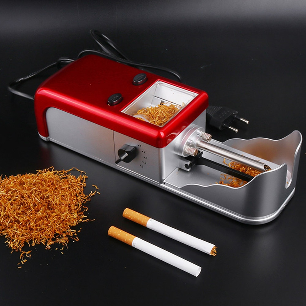 8mm Cigarette rouleuse électrique automatique tabac injecteur ue Plug métal rouleau Tube pour fumer des papiers à rouler hommes cadeau