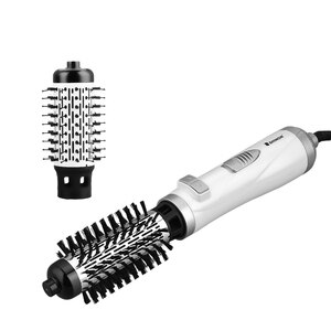 2in1 Auto Rotating Round Hair Blow Dryer Volumizer Hot Air Brush 3 Heat Setting Electric Hair Curler Straightener Comb Fast Heat