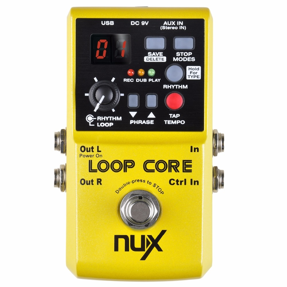 rowin tiny looper electric guitar effect pedal 10 minutes of looping unlimited overdubs NUX Loop Core Pedal Guitar Effect Looper 6 Hours Recording Time Drums Patterns with Tap Tempo Music Electric Guitar Accessories