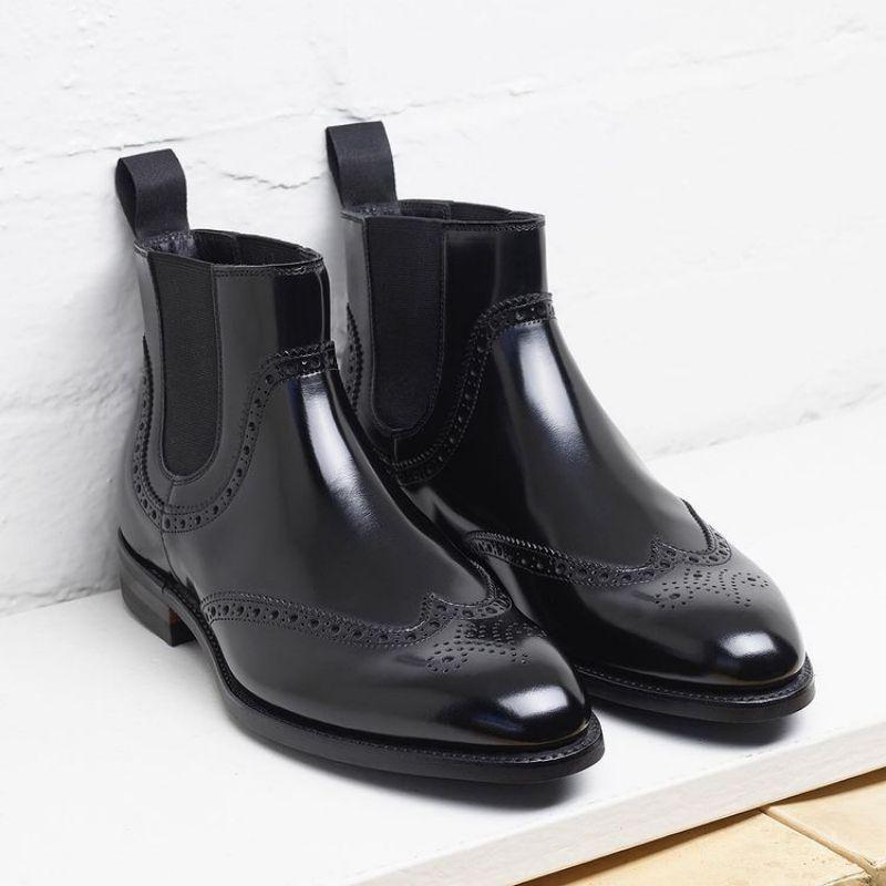 2021 Autumn New Men's PU Slip on Formal Business Shoes Flat Bottomed Overshoot High Quality Men Shoe