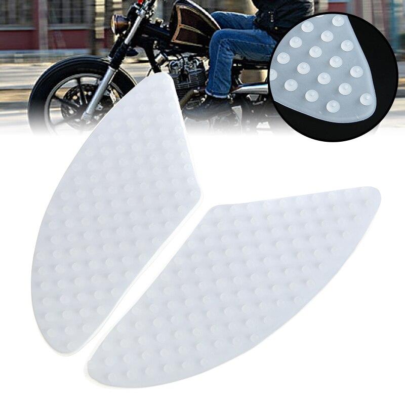 2 uds pegatinas Moto Grip tracción almohadilla para depósito Kit lado combustible Grip adhesivo Protector elastómero Material Universal para Honda Kawasaki