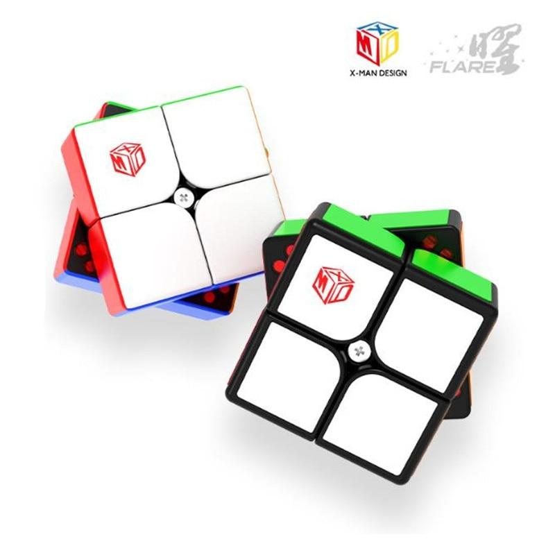 cubo magico magnetico qiyi thinge 2x2 e xmd cubo de velocidade 51mm sem adesivos