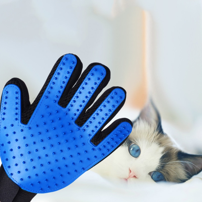 Silicone Cat Glove Dog Grooming Glove Deshedding Efficient Pet Grooming Glove Dog Bath Clean Massage Pet Glove Hair Remove