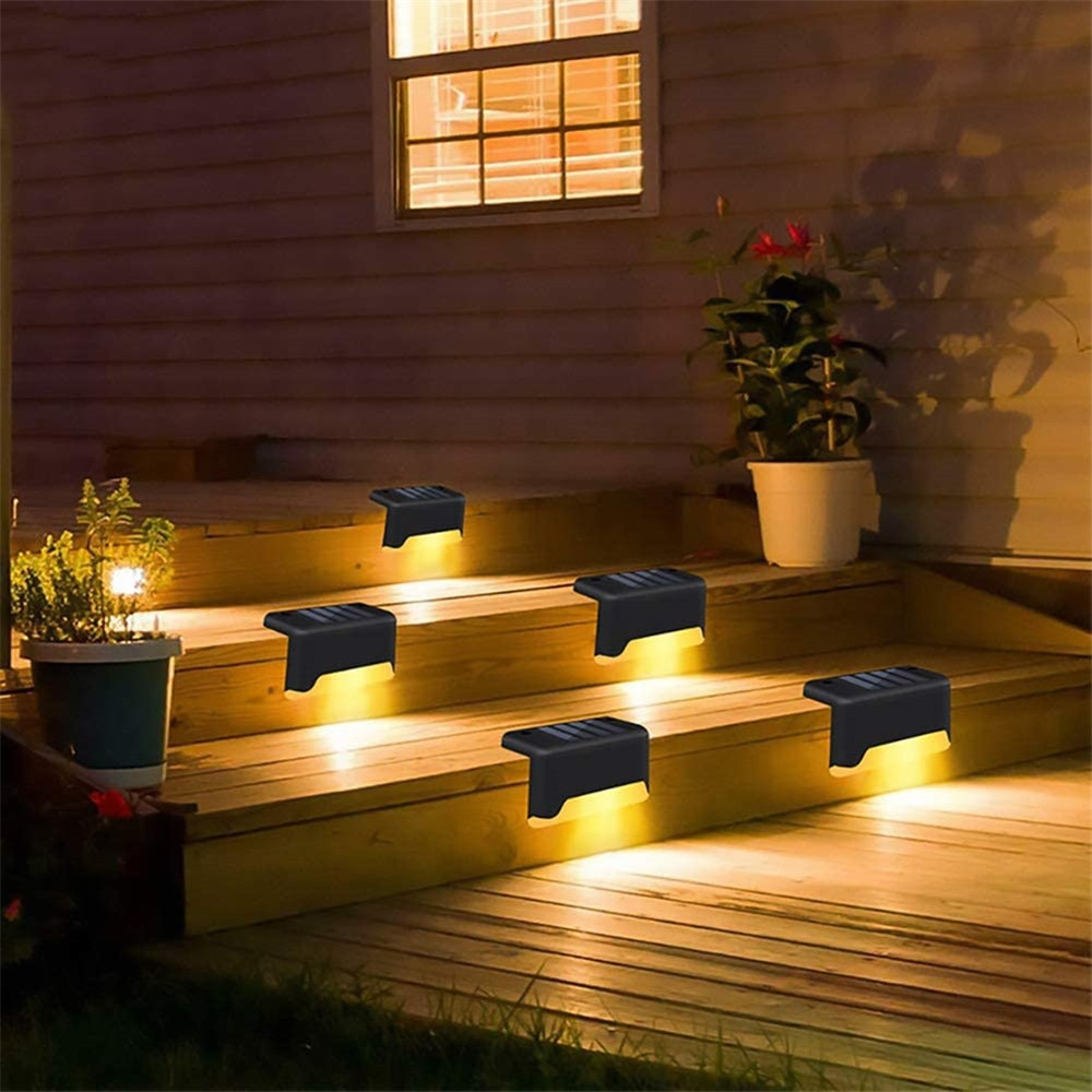 4/8/12Pcs Led Solar Step Lights Super Bright Deck Outdoor Waterproof LED Path Stair Pathway Light for Garden