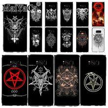 Funda de teléfono pentagrama 666 satánica para samsung galaxy s10plus s9 s8plus note8 note9 note10 plus