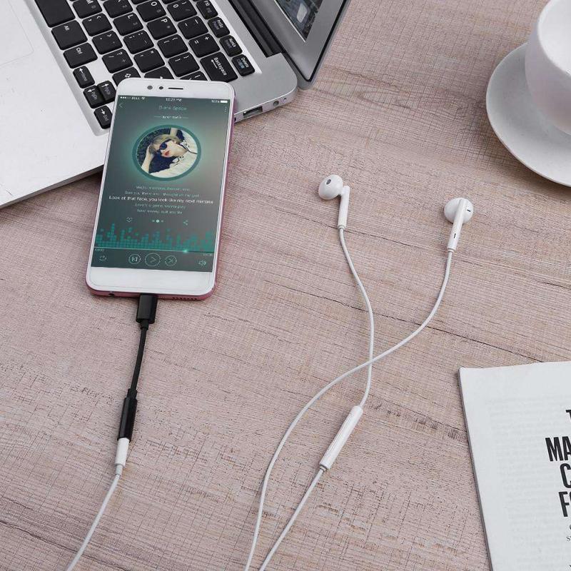 QBMY-Cable de Audio para audífonos, adaptador de carga de USB-C tipo C...