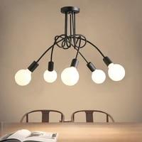 vintage loft art design bending chandelier lighting indoor hanging lamp for living room bedroom home decoration product lamp