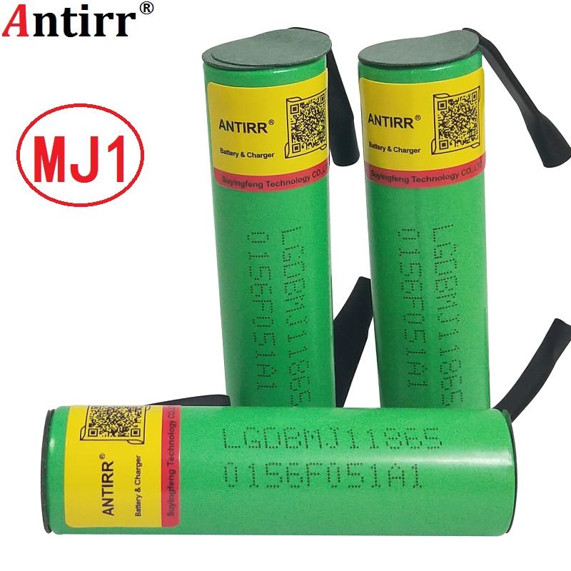 Original 2020 nouveau pour LG MJ1 18650 batterie INR18650MJ1 10A décharge li-iony batterie cellule 3500mah 18650 batteries + bricolage nickel