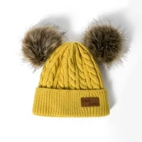 beanies baby hat pompon winter children hat knitted cute cap for girls boys casual solid color girls hat baby beanies