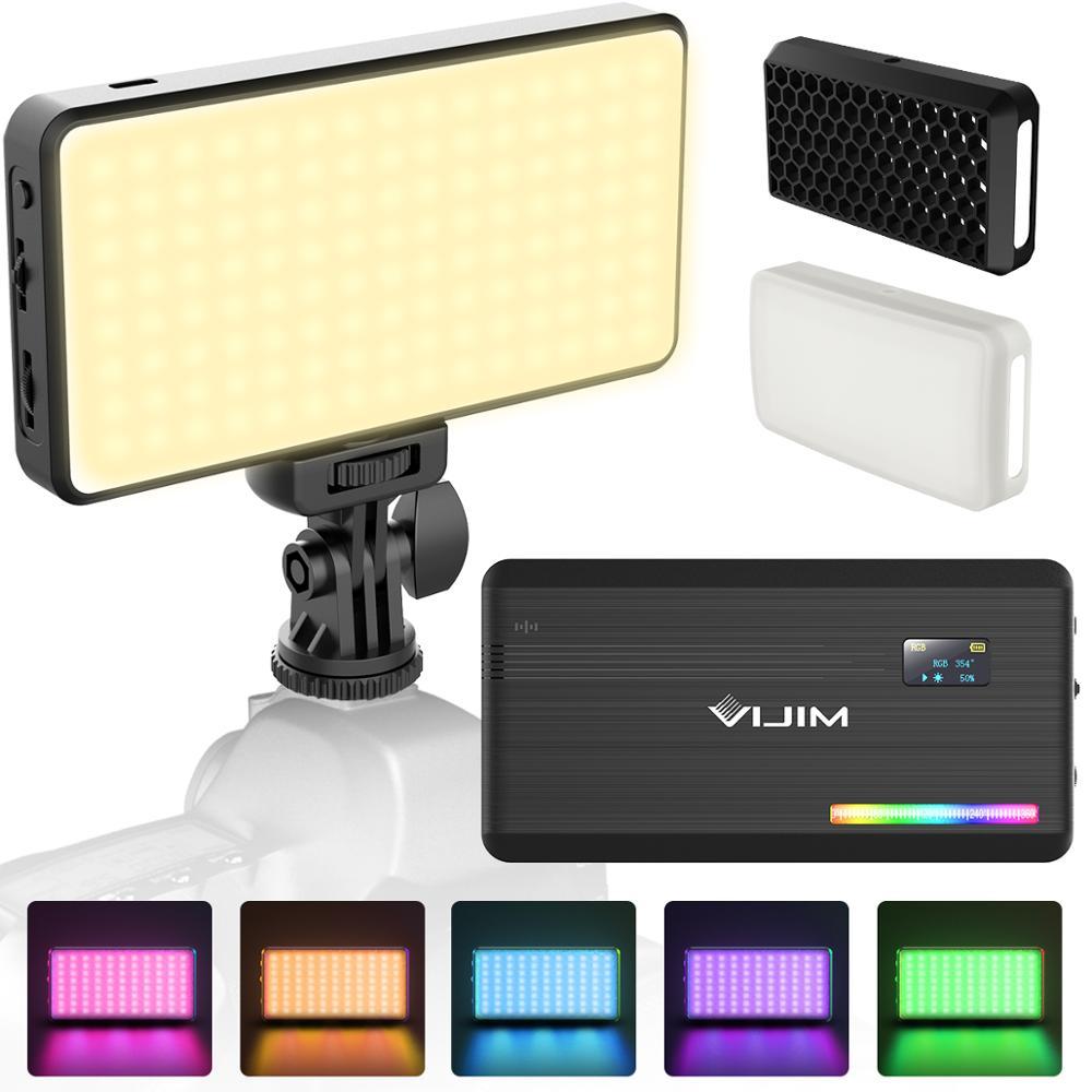VIJIM VL196 RGB LED Video Light 2500K 9000K Dimmable Fill Light DSLR Smartphone Vlog Light Lamp Photography Lighting Kit
