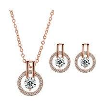 Nueva moda 2020, oro rosa, plata, estrellas de colores, moda redonda dubai para mujeres, joyería de regalo para aniversario, venta al por mayor J5520