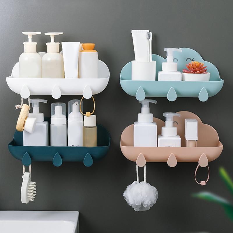 Multi-Function Bathroom Racks Wall-mounted Simplicity Punch-free Cloud Plastic Home Supplies Fashion