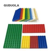Briques plaque de Base 8X16dots 6x12dots 4x8dots Duplo en bloc Double face plaque de Base grand bloc de construction grande taille points accessoires