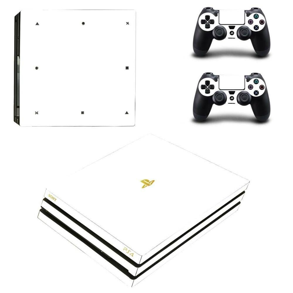 Ps4 branco puro pro adesivos play station 4 adesivo de pele decalque capa para playstation 4 ps4 pro console & controlador pele vinil