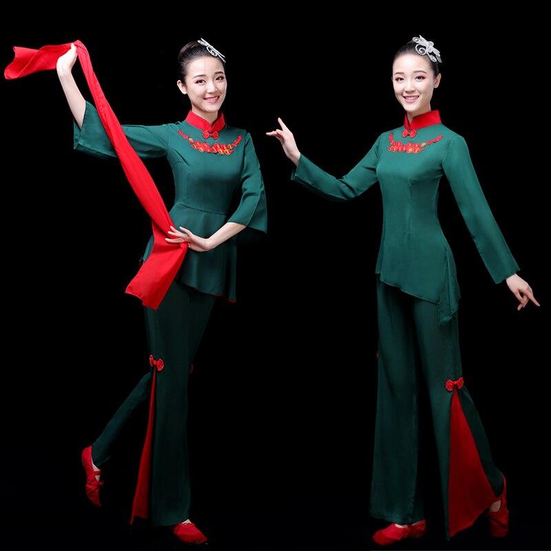 Новинка 2021, классическое танцевальное платье Yingshanhong, женское платье Янко, китайский стиль, квадратный танцевальный костюм, фанатский танце...