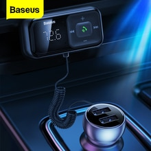 Baseus Auto FM Transmitter Bluetooth 5,0 3,1 EINE USB Auto Ladegerät AUX Freihändiger Drahtloser Auto Kit Auto FM Radio Modulator MP3 Player