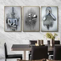 metal figure statue art canvas painting romantic abstract posters and prints wall pictures modern interior decoration for home
