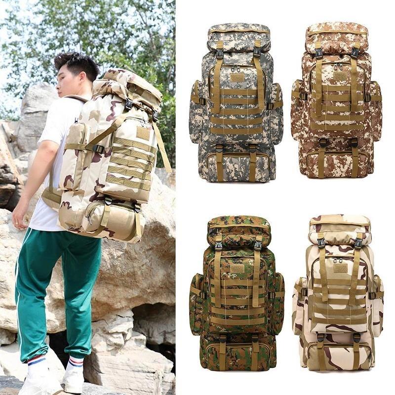 90l 3d esporte ao ar livre militar tático escalada montanhismo mochila acampamento caminhadas trekking saco de viagem ao ar livre