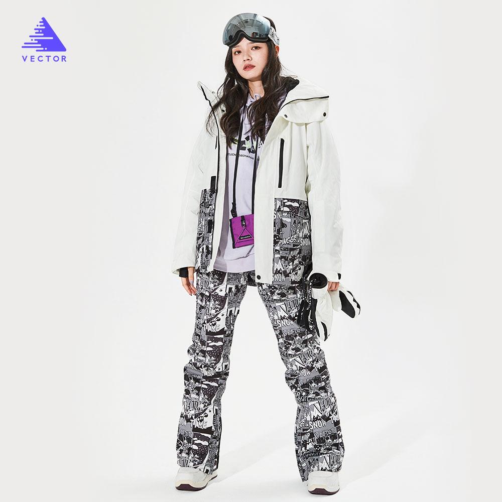 detector women s winter ski snowboard jacket waterproof windproof coat outdoor ski clothing women warm clothes VECTOR  Men Women Ski Jacket Ski Pants Winter Warm Windproof Waterproof Outdoor Sports Snowboard Ski Coat Trousers
