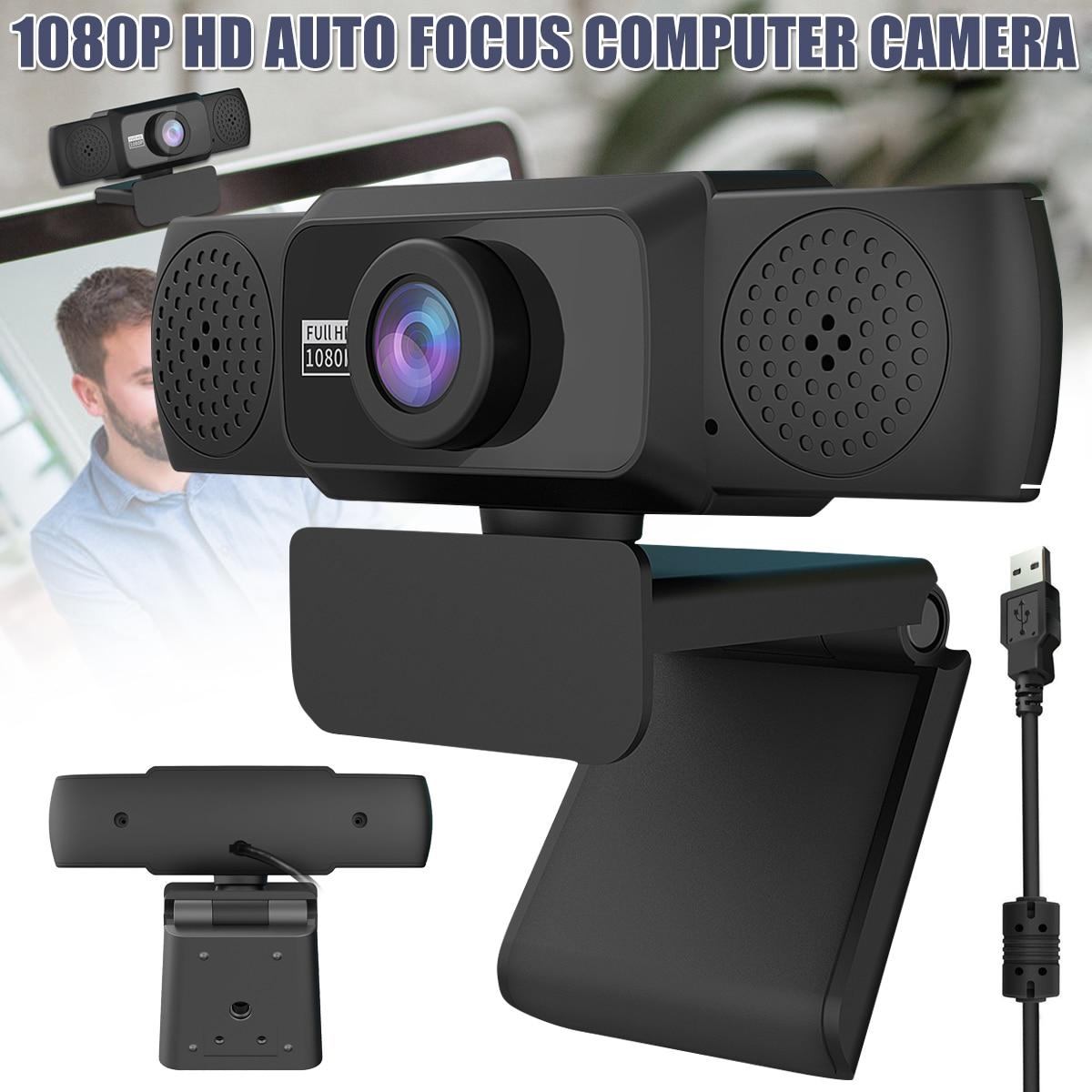 كاميرا ويب 1080P عالية الجودة كاميرا كمبيوتر متدفقة لمؤتمرات اتصال الفيديو بالكمبيوتر 360 درجة قابلة للدوران PUO88