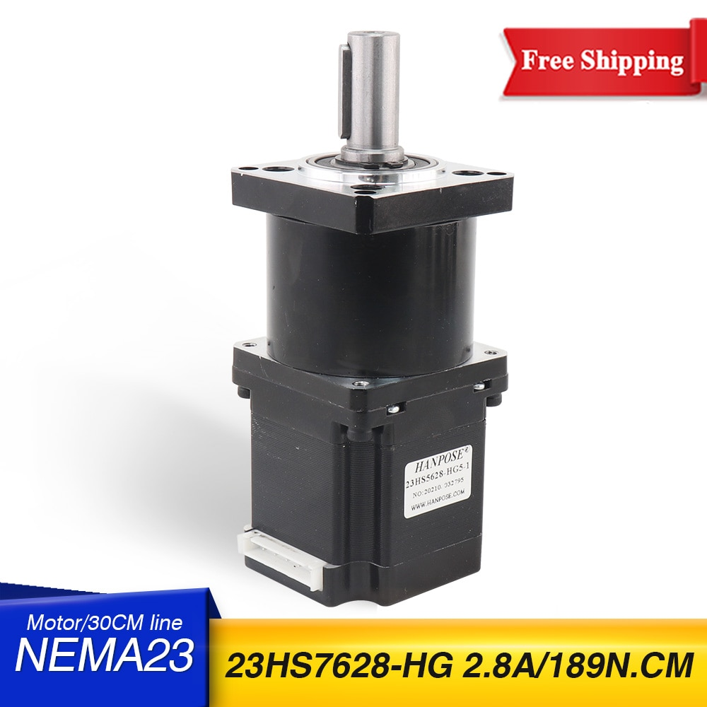 23HS7628-HG neam23 خطوة موتور عالية الدقة تخفيض نسبة محرك متدرج 5-1 10-1 علبة التروس الكوكبية OSM موجهة للطابعة ثلاثية الأبعاد