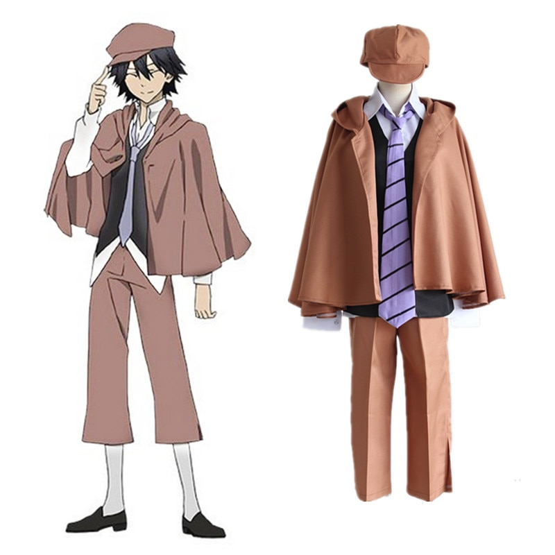 Anime Bungo Stray Dogs Cosplay Costumes Ranpo Edogawa Cosplay Costume Detective Uniforms Halloween Party Game Bungou Stray Dogs game anime yowamushi pedal onoda sakamichi uniforms suit cosplay costume jersey gloves