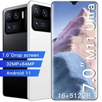 7 0 inch 5g lte mobile phone new xiao m11 ultra mtk6893 deca core cellphone 3264mp face unlock smartphone 7200mah large battery
