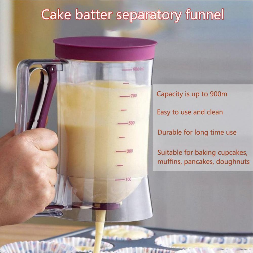 New Mix Dispenser 900 ml Cake Cream Batter Dispenser Mix Pastry Jug Baking Cooking Tools Dispensing Tool Funnel Measuring Cup