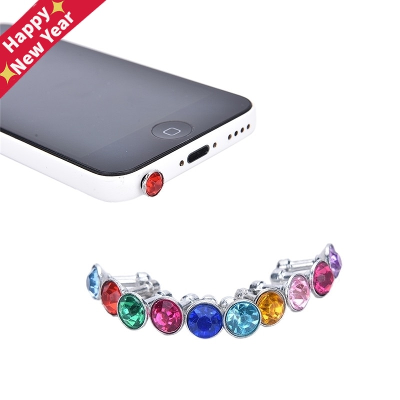 Bling Universal 3,5mm auricular de teléfono móvil, enchufe para iPhone 6 5s /Samsung /HTC Sony anti-polvo, tapón de Jack para auriculares, 10 Uds.