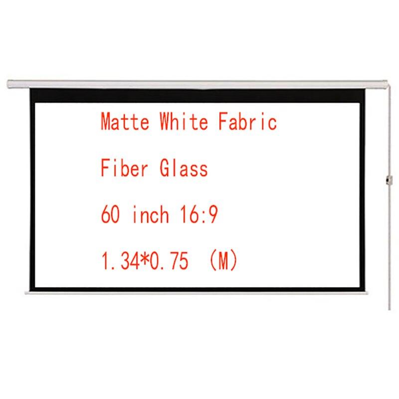 Thinyou 60 zoll 169 Matte Weiß Stoff Faser Glas Elektrische Motorisierte HD Projektor Bildschirm mit Fernbedienung Up Down Für hause