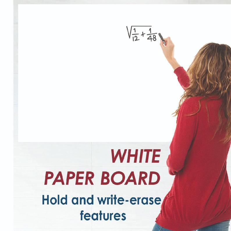 Practic Бумага белый Бумага доска планировщик доски Наклейка для стола магнит самоклеющаяся бумага для ластик написания картины пять штук