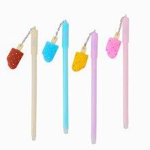 8 sztuk Korea południowa kreatywny cukierki-kolorowe lody wisiorek śliczny długopis żelowy czarny uczeń długopis żelowy piśmienne hurtownia