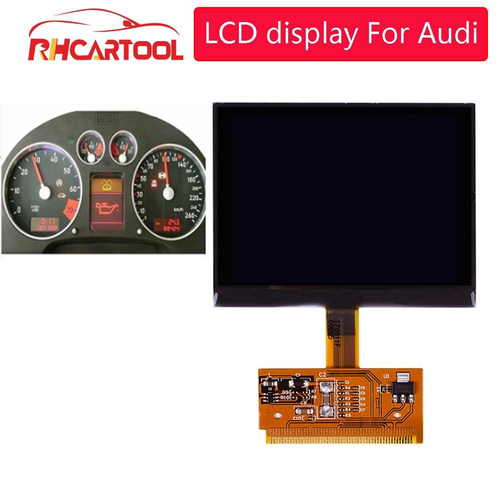 Obd2 carro para audi a6 c5 display lcd a3 s3 s4 s6 vdo display para audi vdo lcd cluster em estoque agora digital painel de reparação de pixels