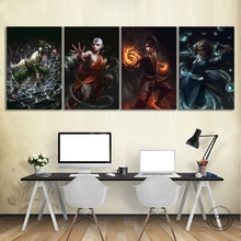 1 pièces Avatar le dernier Airbender Zuko/Toph Beifong/Katara/Aang toile Art peintures Anime affiche décoration murale, sans cadre