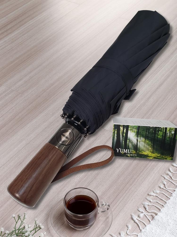 No. Extra Super Large Double Automatic Umbrella Male Student Handsome Rain Dual-Use Folding enlarge