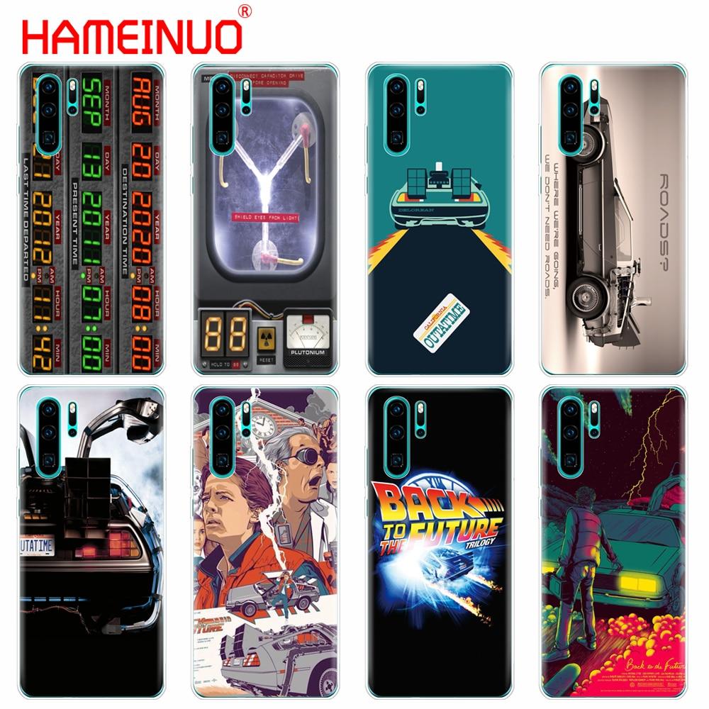 Silicon case capa do telefone para huawei P30 PRO LITE P p20 lite 2019 saco INTELIGENTE 2019 mais p Z inteligente volta para o Futuro do Tempo DeLorean