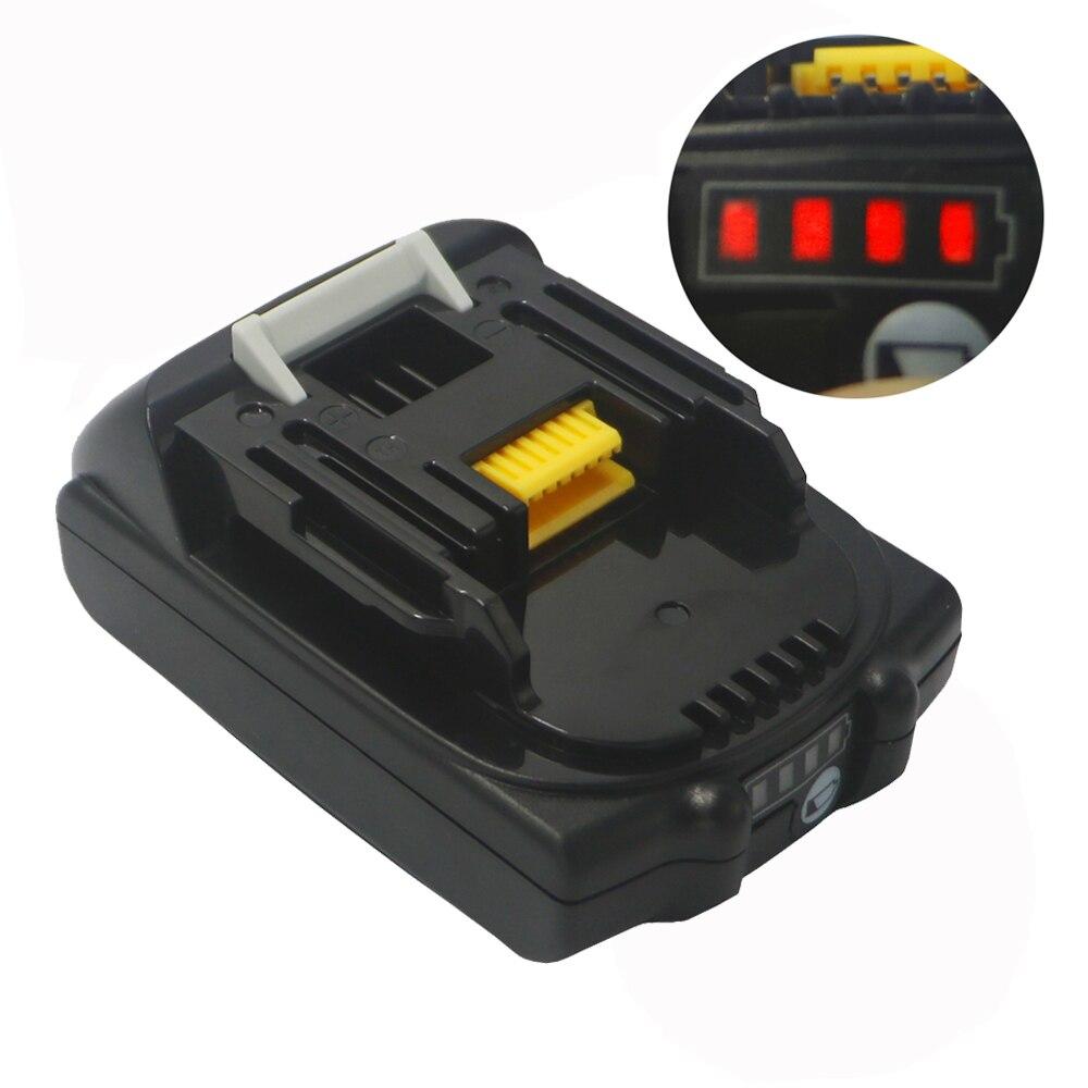Dvisi 2000 mah/3000 mAH 18V BL1830 para Makita BL1820B-2 BL1830 BL1815 con LED indicador Universal de batería Li-ion taladro VCT6 celular