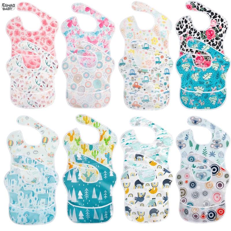 Newborn Baby Bib Infant  for Boys and Girls Waterproof Washable Stain and Odor Resistant Saliva towel bib soft baby  eating bib