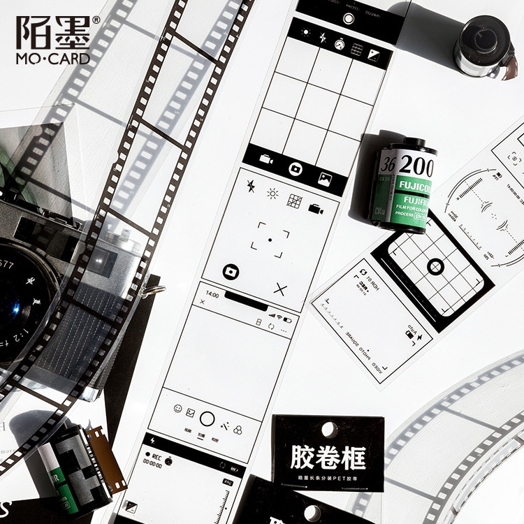 1 folha kawaii thansparent filme foto adesivo diário marcador planejador adesivos scrapbooking material escolar bala diário sl2359