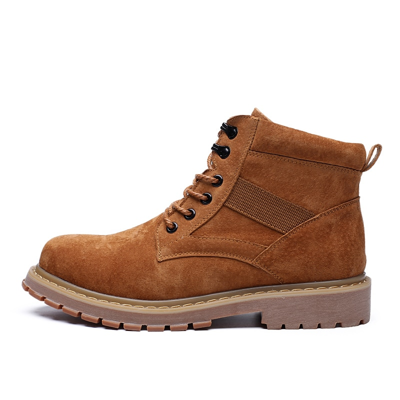 Wolf classic men's boots autumn and winter new Martin boots men's tooling Korean fashion Military Boots Men's Boots