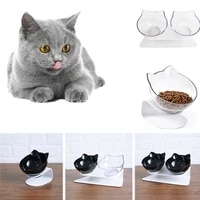 cat bowl single double non slip cute slow feed with raised stand dog food bowls for protection neck supprot pet supplies tn