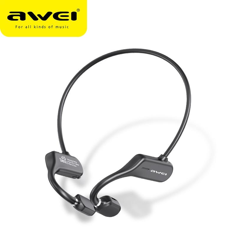 AWEI New Arrivals A889BL Wireless Bluetooth Air Conduction Sport Earphones 120mAh For Running For iPhone Xiaomi