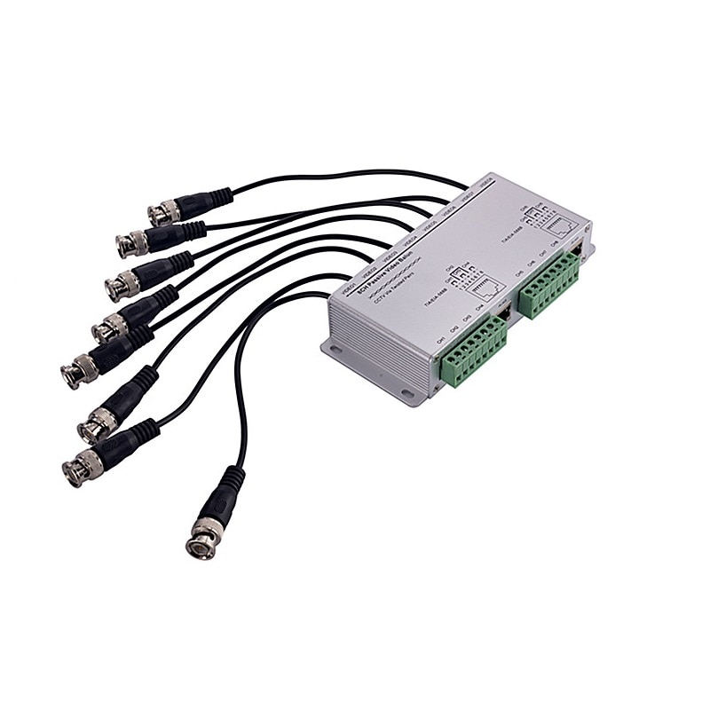 ESCAM 8CH HD CVI/TVI/AHD Passive Transceiver 8Channels Video Balun Adapter Transmitter BNC to UTP Cat5/5e/6 Cable 720P 1080P enlarge