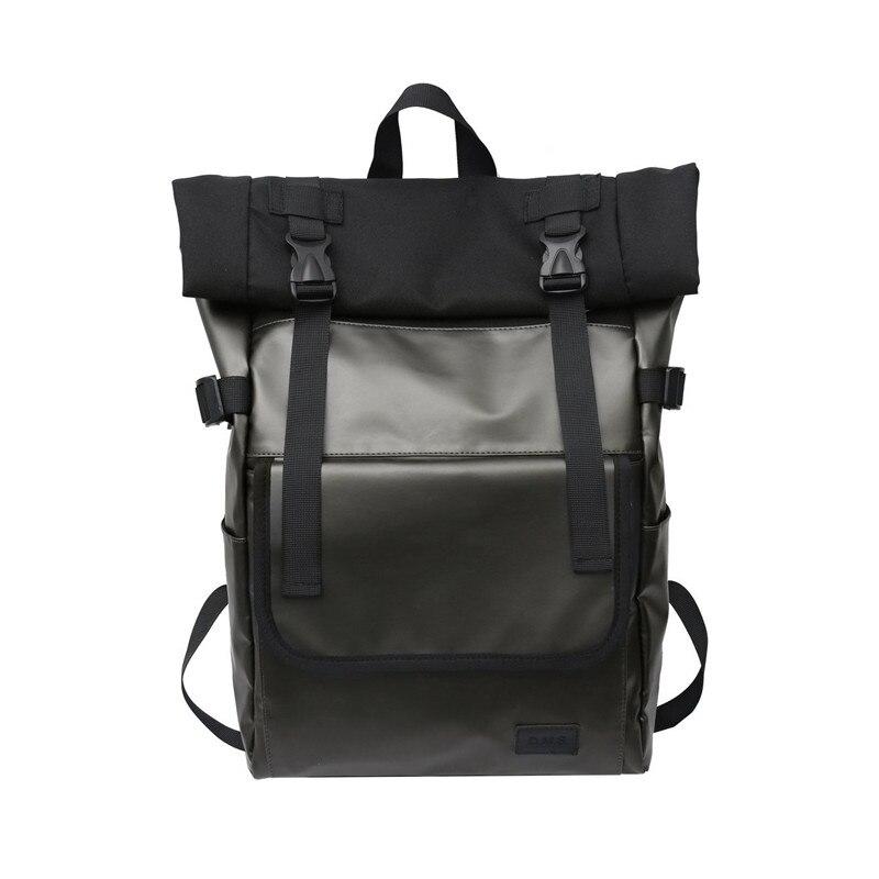 حقيبة الظهر سعة كبيرة موضة للجنسين حقيبة مدرسية الشارع شخصية حقيبة الظهر كول بوي حقيبة سفر للبنات دائم بولي Leather الجلود
