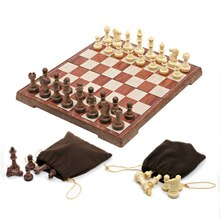 chess set Folding Magnetic chess pieces Imitation wood tabuleiro de xadrez board  tabuleiro jogo xadrez jogo  Children Gifts