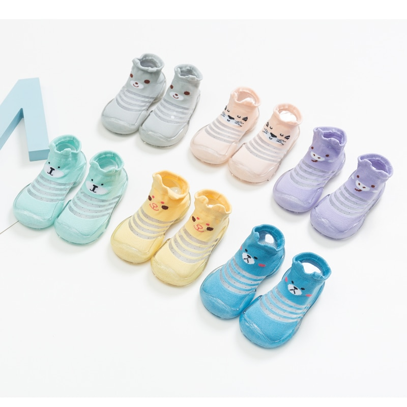 Baby Cartoon Cute Floor Shoes , Baby Girl Baby Boy First Walkers Summer Style Anti-slip Rubber Sock Shoes