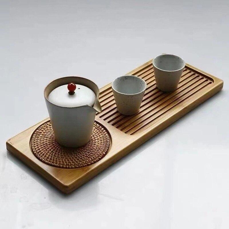 الطبيعي علبة خيزران اليابانية الخيزران صينية مستطيلة الخيزران صينية الشاي الفاكهة و صينية الخبز فندق صينية